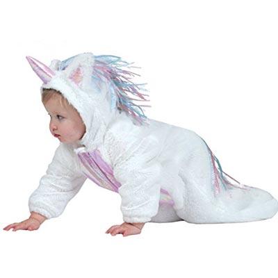 Weißes Baby Einhornkostüm Onesie