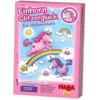 Haba - Einhorn Glitzerglück - Der Wolkenschatz. Das zauberhafte Würfelspiel