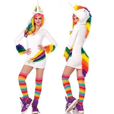 Cooles Regenbogen Einhorn Kostüm