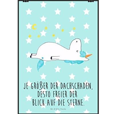 Cooles Einhorn Poster mit lustigem Spruch