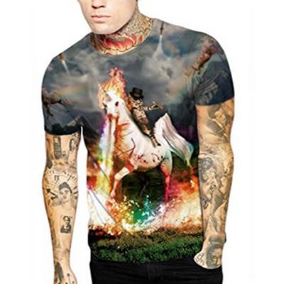 lustiges Männer Einhorn T-Shirt Tattoo