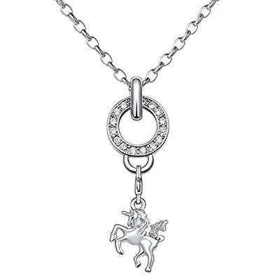 Halskette in Silber aus Edelstahl mit Einhornanhänger