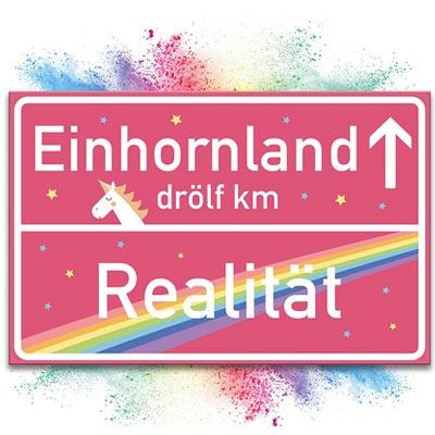 Einhornland-Schild