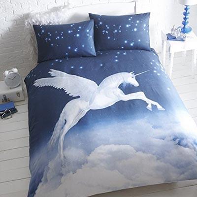 Elegante Einhorn Himmel Bettwäsche
