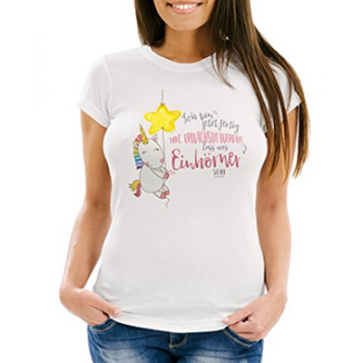 Damen Einhorn T-Shirt Slim