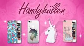 Glitzernde Einhorn Handyhüllen - Pink, stabil und cool