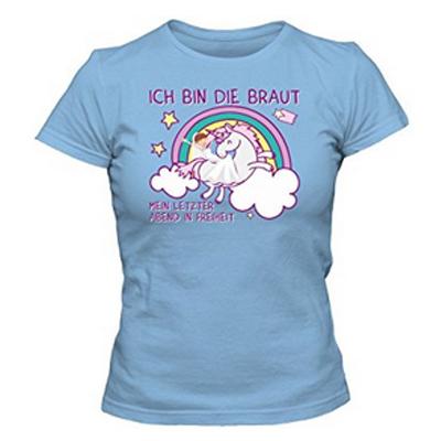 Junggesellinnenabschied Damen lustiges Einhorn-T-Shirt