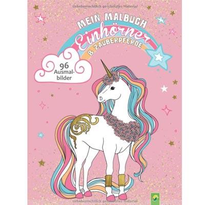 Süßes Einhorn Ausmalbuch mit tollen Ausmalbildern von Zauberpferden und Einhörner