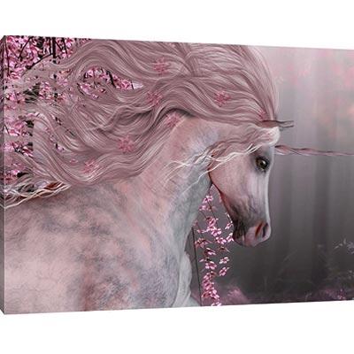 Wunderschönes Einhorn Gemälde - Leinwand in XXL